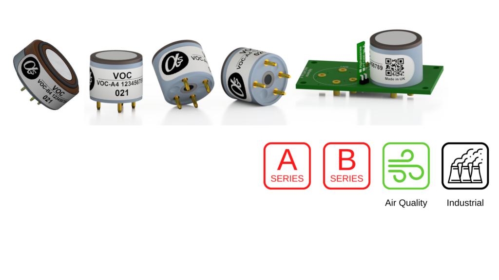 The Alphasense VOC electrochemical sensor range.